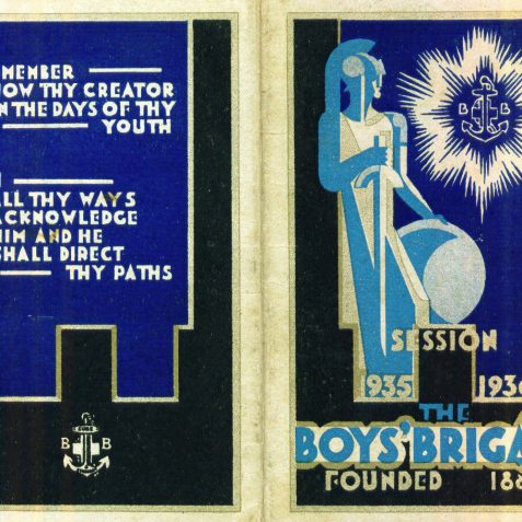 Front and back cover of Boys Brigade 1935-1936 | From the private collection of Maralyn Eden