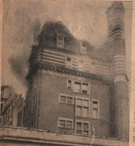 Fire at the Metropole, April 1954   Photo submitted by Liam Mandville