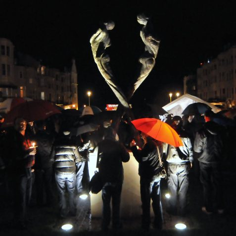 Candlelight Vigil for World AIDS day | Photo by Tony Mould:click on photo for large version