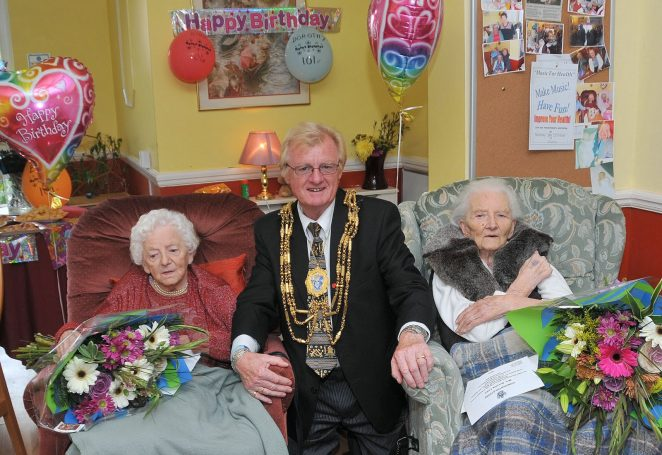 L-R Miss Eira Varndell, The Mayor Councillor Geoffrey Wells and Mrs Dorothy Links | Photo by Tony Mould