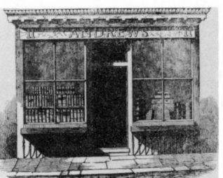 Shop-front of number 11, St. James's Street, the premises of Charles Andrews | From the private collection of Andy Grant