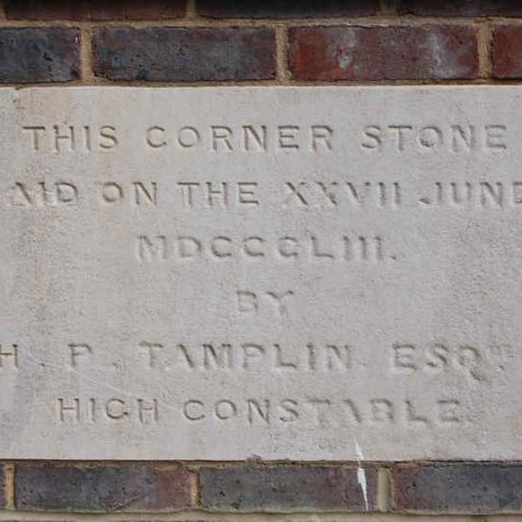 Foundation stone for the former Oddfellows Hall | Photo by Tony Mould