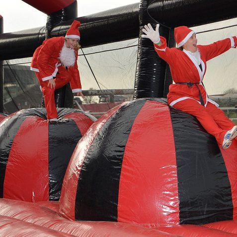 Inflatable Santa Run: ©Tony Mould