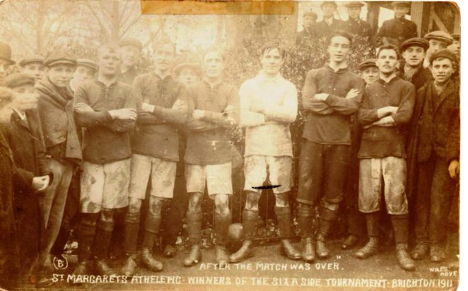 1911 St Margaret's Athletic 6 a side | From the private collection of Carole Barrow
