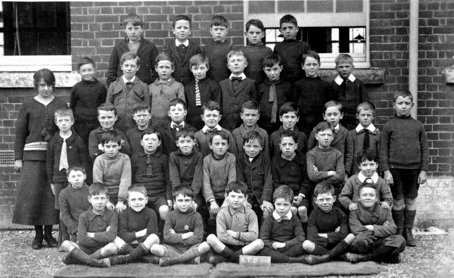 Class photo K.T.B. 1 and 2 - Dated 1920 | From the private collection of Chris McBrien