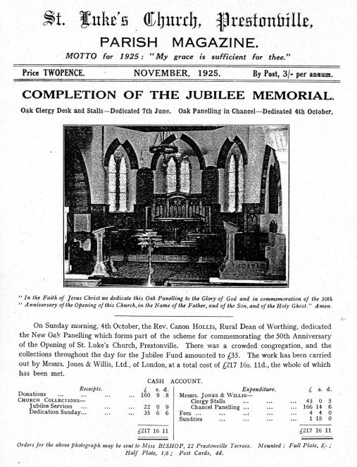 Jubilee celebrations 1925   From the private collection of St Luke's Prestonville