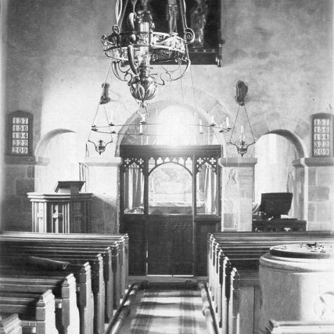St Wulfran's church: showing the 13th altar screen   From the private collection of Jennifer Drury