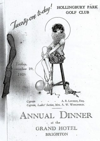1929 Annual Dinner | HPGC Archive