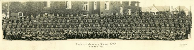 School photograph OTC Summer 1937 | BHASVIC Past and Present Association