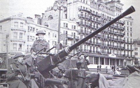 1943 'Bofors' gun on the seafront