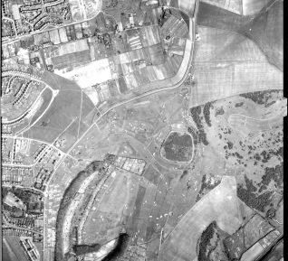 Aerial view 1946:click to open a large version | Reproduced by kind courtesy of the University of Sussex