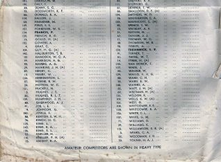 1949 Starters list continued | HPGC Archive