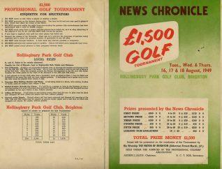 1949 Programme | HPGC Archive