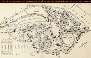 Map of the golf course for the 'News Chronicle' | HPGC Archive