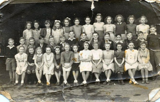 Finsbury Road School c1948/49: click on image to open a large version | From the private collection of Ray Stoner