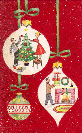 1950s Christmas card | From the private collection of Jennifer Drury