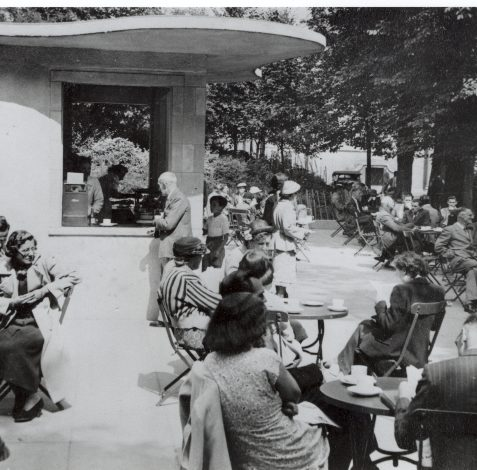 1950's Pavilion Gardens Cafe | From the private collection of Herbert Tennent