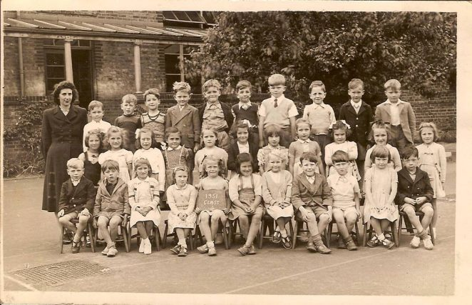 Miss Connolly's class, Coombe Road School, 1951 | From the private collection of Roger Sharman