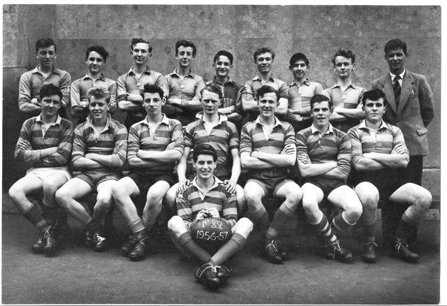 1st XV rugby team of 1956/57 | From the private collection of Tony Bolding
