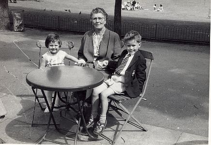 Julie and Mark Sewell with Grandmother in late 50's | From the private collection of Herbert Tennent