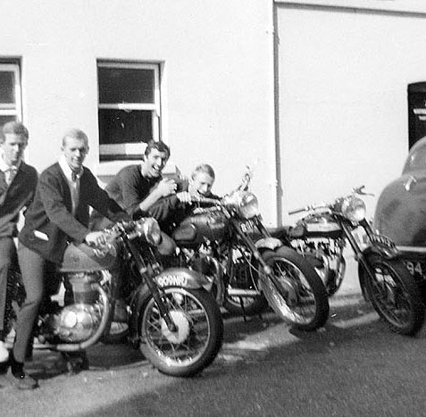 The proud owners of motorbikes - Brighton, 1960s | From the private collection of Trevor Chepstow.