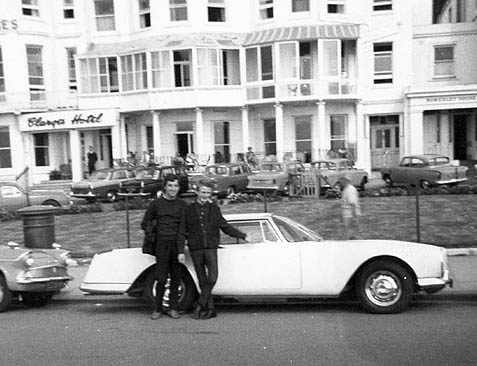 Proud owners of a new car. Brighton seafront 1960s. | From the private collection of Trevor Chepstow