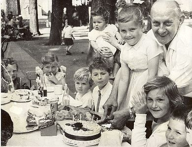 Julie Sewell's 5th Birthday Party in 1961 with David as a baby | From the private collection of Douglas Sewell