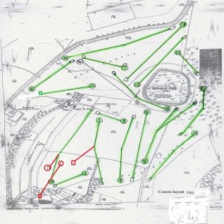 1962 changes to layout of 1st, 2nd and 18th holes   Private collection of John Knight