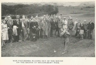 1964 Max Faulkner playing the 8th hole from the ditch at the side of the Camp.   HPGC Archive