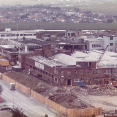 1987. The Demolition of STC (ITT Creed) | From the private collection of Richard Griffiths (Talbot Tool)