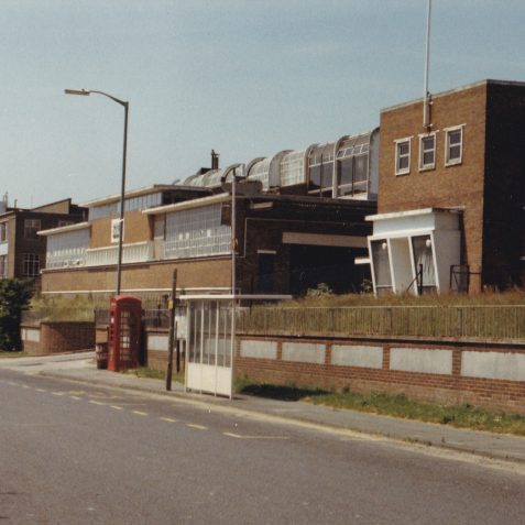 STC/ITT Creed just prior to demolition August 1986 | From the private collection of Richard Griffiths