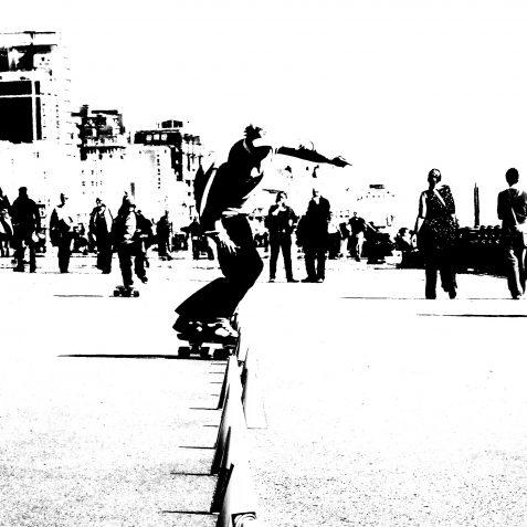 Skater dad | Copyright Julie Tierney 2009