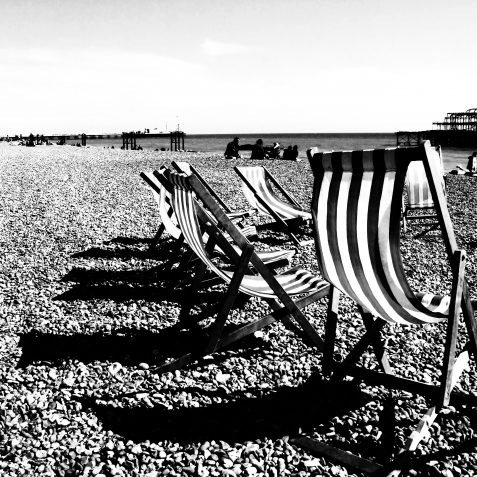 Deckchairs in the breeze | Copyright Julie Tierney 2009