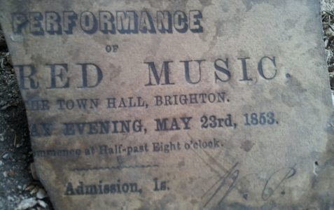 Old concert ticket 1853
