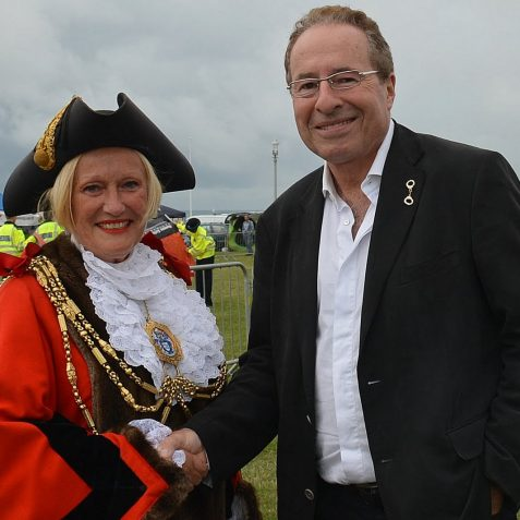 Councillor Denise Cobb and Peter James | Photo by Tony Mould