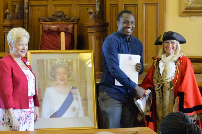 A very happy new citizen | ©Photo by Tony Mould