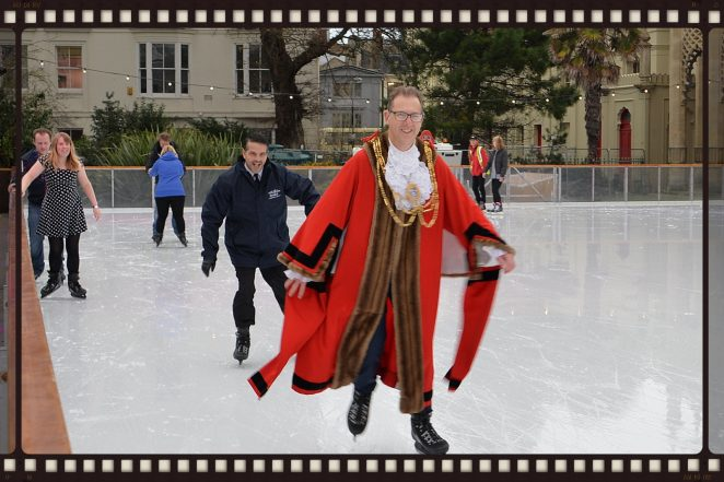 The Mayor On Ice | ©Tony Mould: click on image to open a large version in a new window