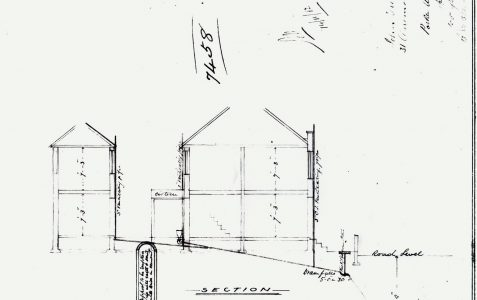 Engineer's plans for number 31