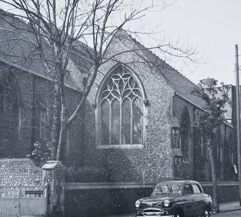 All Saints Church Buckingham Place c. 1957 | Image reproduced with kind permission of The Regency Society and The James Gray Collection