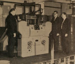 CVA 50-Ton High Speed Dieing Press after installation at The Mint Birmingham Ltd, 1969 | From the private collection of Peter Groves