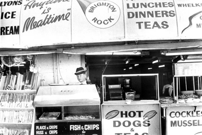 Photo of a 1960s hotdog stand, Brighton | From a private collection