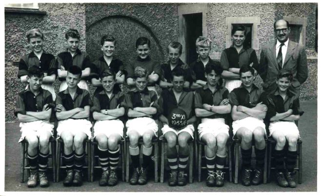 Third eleven football team during season 1955/6 | From the private collection of David Tarr