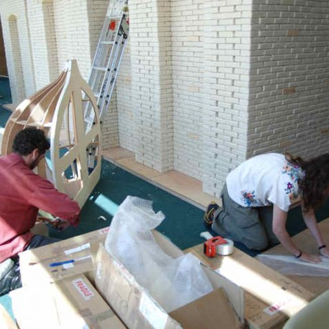 Guyan and Emilia hard at work | Photo by Tony Mould