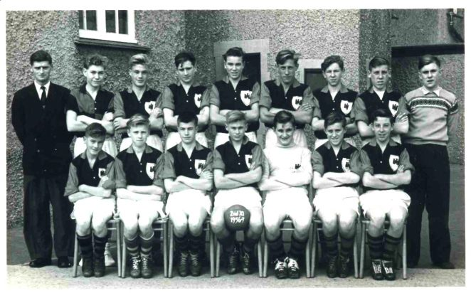 The second eleven football team  in the 1956/7 season | From the private collection of David Tarr
