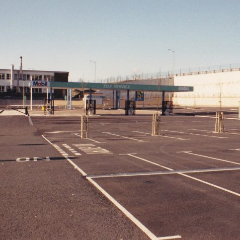 Asda petrol station January 1988 the day before opening | From the private collection of Richard Griffiths