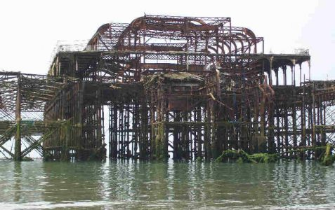 The West Pier Theatre skeleton