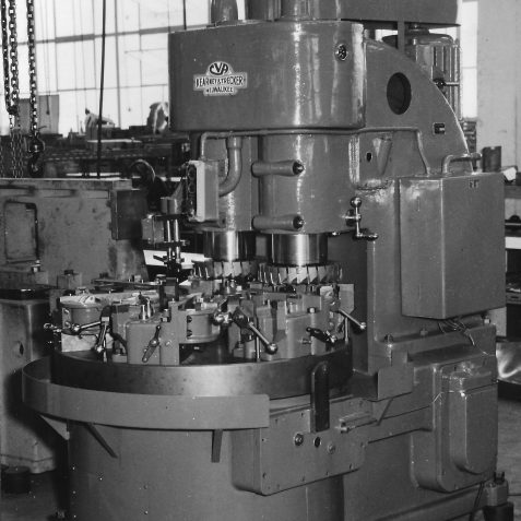 Special Purpose 2 Spindle Vertical Rotary Table Machine c. 1950's | From the private collection of Peter Groves