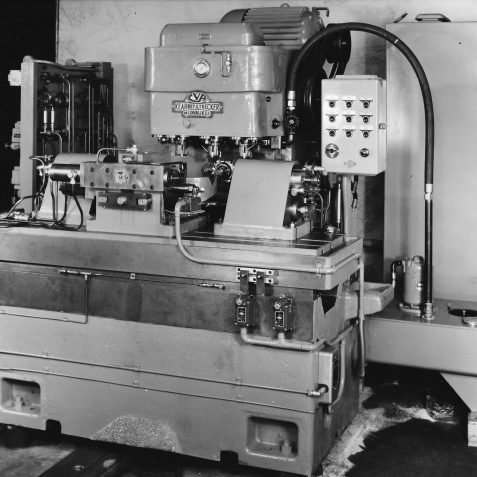 5 Spindle Travelling Head Machine Built for Vauxhall Motors (crankshaft) c. 1950's | From the private collection of Peter Groves