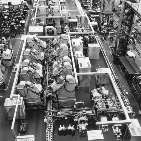 Section of 57 Station In Line Transfer Machine for Perkins (1969) | From the private collection of Terry Buck