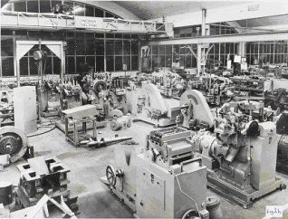 Inside the new CVA factory Die Shop (Fig 2) | Image from the private collection of Peter Groves